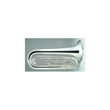 Contrabass Bugle, no case, 3 Valve, 4/4 size, Key of G, silver