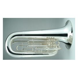 Contrabass Bugle, with case, 4 Valve, 5/4 size, Key of G, silver