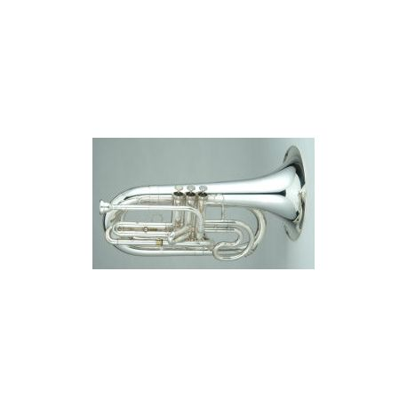Marching Bb Trombone in silver and lacquer finish