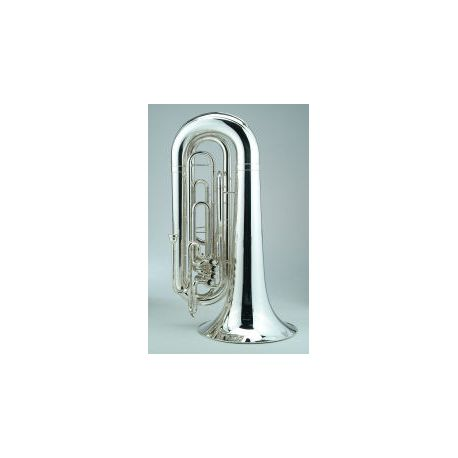 Marching BBb Tuba with 4 Valves, 4/4 version in silver or laquer