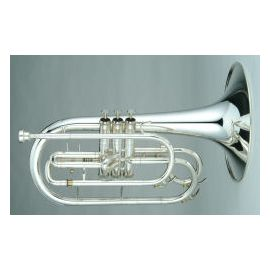 Marching F French Horn in silver and lacquer finish