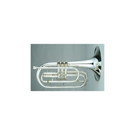 Mellophone Bugle Outfit, 3 Valve, Key of G, silver