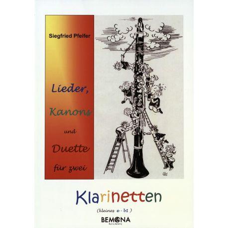 Lieder, Kanons und Duette für 2 Klarinetten mit CD