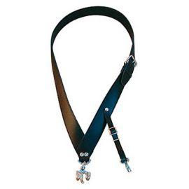 Bandoliere 40 mm, Haken, Leder schwarz/weiß