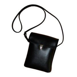 Marschnotentasche 2545-II Leder schwarz/weiß