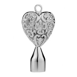 DOJO HS2 Solid Filigree Heart Drum Key, 4-kan