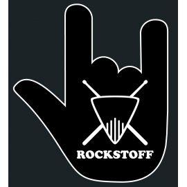 "Aufkleber Rockstoff ""Hand"" 10x10cm"