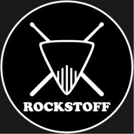"""Aufkleber Rockstoff """"Rund"""" 10x10cm"""